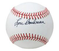 Lou Boudreau Signed Cleveland Indians Official MLB AL Baseball BAS