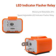 Orange 2 Pin Speed Adjustable LED Flasher Relay Motorcycle Turn Signal Indicator
