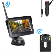 Wireless Car Backup Camera Reverse Parking 4.3'' Rear View Monitor Night Vision