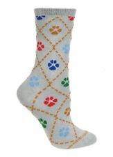 Gray with Paws Socks - Size 6 - 8.5 Adult (Greyhound Adoption)