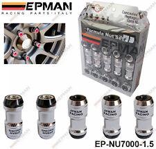 EPMAN BLACK LOCKING FORMULA WHEEL NUTS M12 X 1.5 fit HONDA TOYOTA MITSUBISHI MAZ