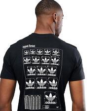 Adidas Originals Estándar Trefoil Dimensiones Camiseta de Hombre Camisa Ocio