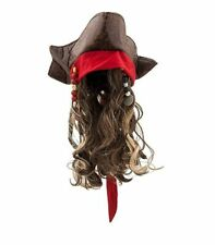 Disney Jack Sparrow Pirate Hat Wig for Kids Pirates of the Caribbean Dead Men