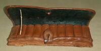 Cartouchière de ceinture en cuir ( fin XIXe-début XXe ) , collection , chasse .