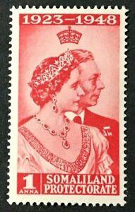 SOMALILAND PROTECTORATE Sc#110 1948 KGV I Silver Wedding Mint NH OG VF/XF 15-134
