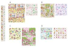 53da8b05d63 Sanrio Hello Kitty Gift Wrapping Paper Book Covers Includes 2 Designs  Choose One