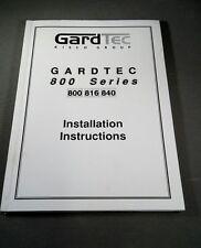 GARDTEC/RISCO 800/816/840 INSTALLATION MANUAL