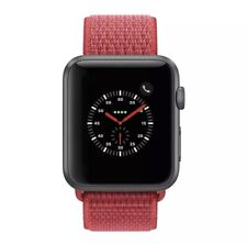Apple Watch Series 5 40mm Space Gray Aluminium Case w/ (PRODUCT) Red Sport Band