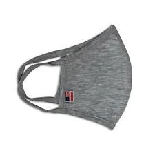 6 Pack Gray Face Mask Double Layered Washable & Reusable MADE in USA with tag
