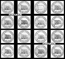 HISTORIC STATES of TURKS TURKEY 16 PCS x 10 SET 160 COIN 1 k. 2015 2016 UNC COMM