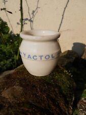 """Pot a yaourt ancien """" YACTOL """" déco cuisine"""