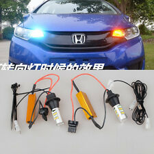 For Honda Fit 2014-2016 Accord 2x Switchback Iceblue LED Turn Signals Light Bulb