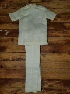 Vintage White Chef Uniform Hasbro Barbie KEN DOLL1960's & 70's ACCESSORY