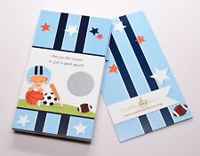 Sports Baby Hispanic - Baby Shower Scratch Off Game Pack