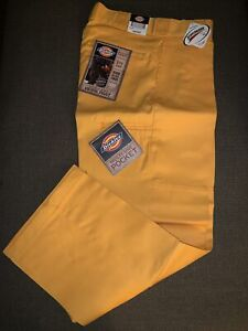 NWT Men's Dickies Double Knee Work Pant Gold 30 x 30 New Old Stock Rare