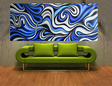 180cm x 90cm Aboriginal inspired Art Painting Ocean  abstract COA Australia
