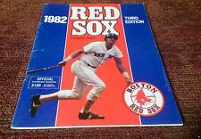 Boston Red Sox 1982 official baseball Fenway Park scorecard Milwaukee Brewers NM
