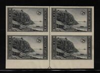 1935 Acadia Sc 762 FARLEY bottom arrow block of 4 unused NGAI