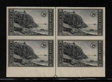 1935 Acadia Sc 762 FARLEY bottom arrow block of 4 unused NGAI