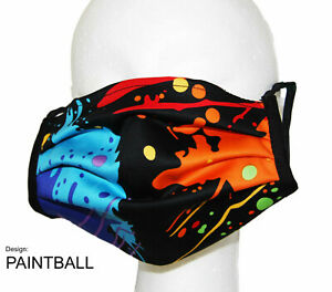 Nasen-/Mundmaske Design PAINTBALL - Spuckschutz -