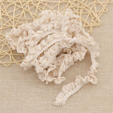 DIY Elastic Band Lacework Ribbon Lace Trim Sewing Cotton Fabric Handcraft 5 Yds