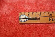 Very Old Brass & Enamel Paint 4-String Mandolin Brooch Pin