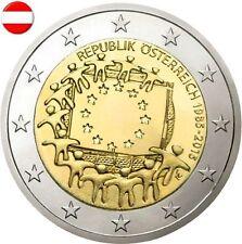 AUSTRIA 2 E. 2015 -  30 AÑOS DE LA BANDERA EUROPEA - SIN CIRCULAR