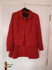 M & S Red Suit Size 14