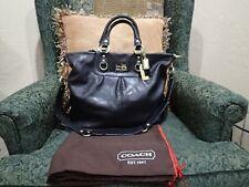 Coach Madison Julianne Leather Black Satchel Bag 12935