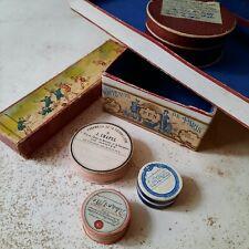 Lots 6 Anciennes Boites Carton Pharmacie Apothicaire Mercerie