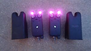 A SET OF DELKIM TXI-D ALARMS WITH COVER - PURPLE