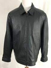 Calvin Klein - Dark Brown - 100% Leather Jacket - Men's 2XL