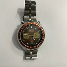 Vintage Seiko Brown Chronograph Speed-Timer Bullhead 6138-0040 Automatic
