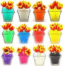 Craftsprite 12 Color Pack Combo Vase Filler Gel Water Beads - 5 Grams Per Pack