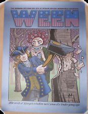 SAPPHIRE BLUE VARIANT Ween 2016 Broomfield CO Screen Print Poster Justin Hampton