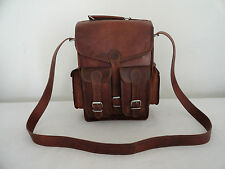 Leather Backpack Convertible Messenger Bag iPad/Tab Satchel Handbag Crossbody