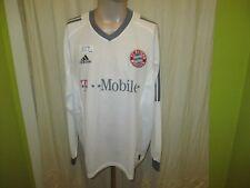 "FC Bayern München Adidas Langarm Trikot 2002-2004 ""-T---Mobile-"" Gr.XL Neu"