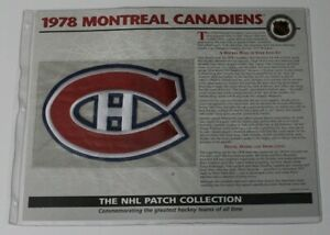 1978 Montreal Canadiens NHL Hockey Willabee & Ward Patch 68661
