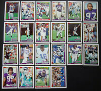 1991 Topps Minnesota Vikings Team Set of 22 Football Cards