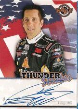 Greg Biffle WHEELS AMERICAN THUNDER STROKES 2007 signed card *FREE SHIPPING*