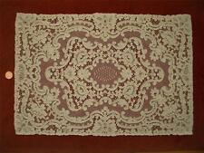 1 Rec 18in Antique Vtg Alencon Lace Dresser Scarf Runner Doily Panel Centerpiece