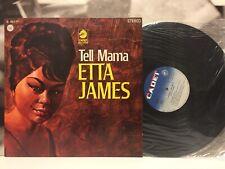 ETTA JAMES - TELL MAMA LP EX/EX+ 1968 1st ORIG PRESS ITALY CADET D. 30-177