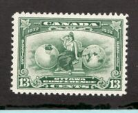 #194  Canada George V  - 1932 - 13 Cent stamp MH  - F/VF - superfleas