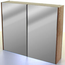 Large Double Door Bathroom Mirror Cabinet Storage Cupboard Unit Wall Mounted