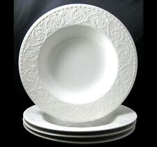 Mikasa Plaza Lane 4 Soup Bowls Embossed Flowers Scrolls DE900 More Pieces Avail