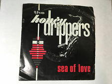 The Honey Drippers Sea Of Love 45 RPM Rockin' At Midnight with Sleeve Lot N11