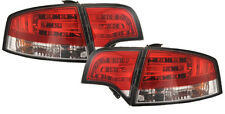 Audi A4 B7 Saloon 04-08 Red Clear LED Back Rear Tailights Lighting Lamp Part