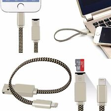 8Pin USB Cable Micro SD Memory Card Reader for iPhone 7 5S SE 6 6S Plus Charger