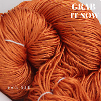 1 Skein - 250 Meters - 90 Grams - 100% Silk Yarn - Knit / Crochet -  Dyed 05