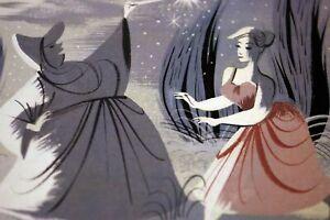 Mary Blair 1950 / 2018 Walt Disney Cinderella Concept Art AUCTION Promo Card